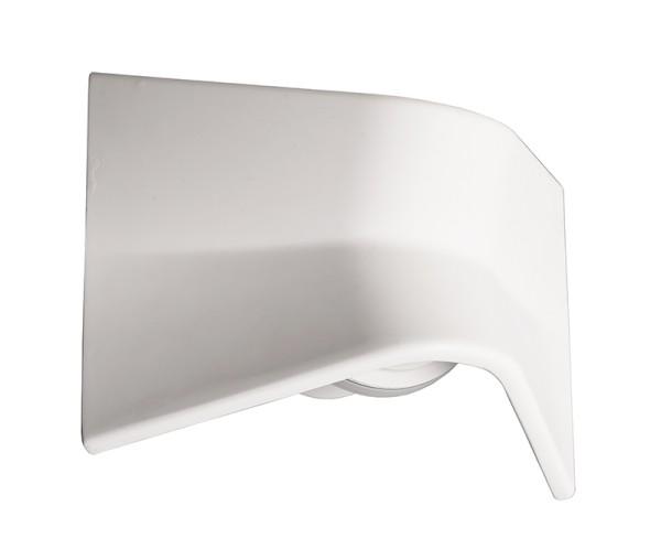 Deko-Light Wandaufbauleuchte, FLY II, Gips, Weiß überstreichbar, Warmweiß, 100°, 3W, 230V, 240x123mm