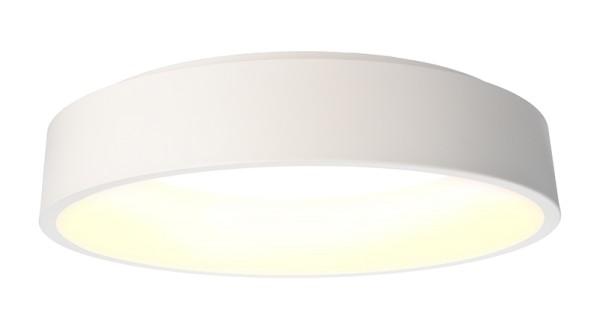 Deko-Light Deckenaufbauleuchte, Sculptoris 60, Aluminium, weiß matt, Warmweiß, 150°, 40W, 230V