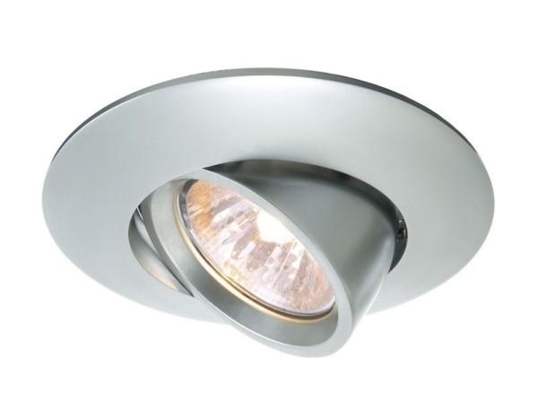 Deko-Light Deckeneinbauring, Aluminium Druckguss, silberfarben matt, 50W, 12V