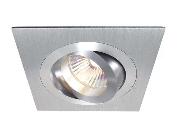 Deko-Light Deckeneinbauring, Aluminium, silberfarben gebürstet, 50W, 12V, 92x92mm