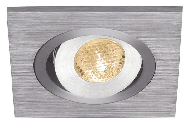 LELEX 1, Einbauleuchte, LED, 3000K, eckig, aluminium gebürstet