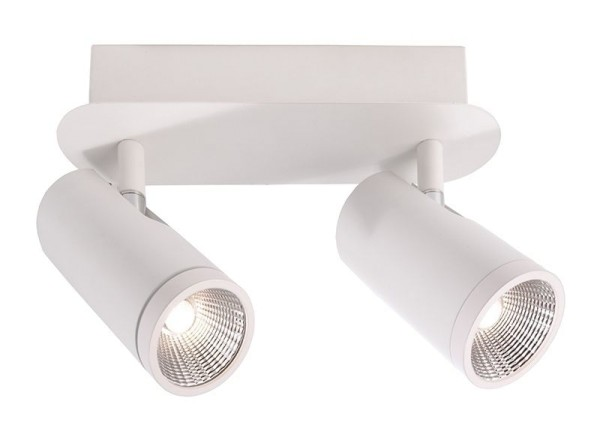 Deko-Light Deckenaufbauleuchte, Dabih II, Metall, weiß matt, Warmweiß, 45°, 11W, 230V, 245x118mm