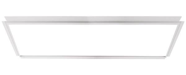 Deko-Light Zubehör, Einlegerahmen für Gips 124x62, Metall, weiß, 1315x695mm