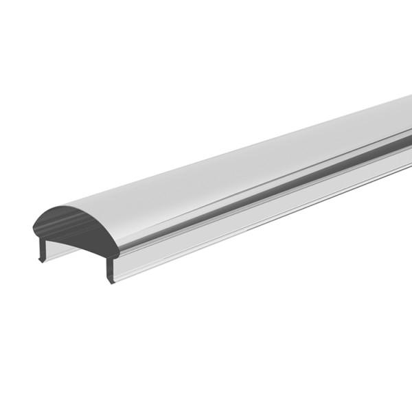 Reprofil, Abdeckung L-01-10, Kunststoff, klar 95% Transmission, Länge: 2000 mm