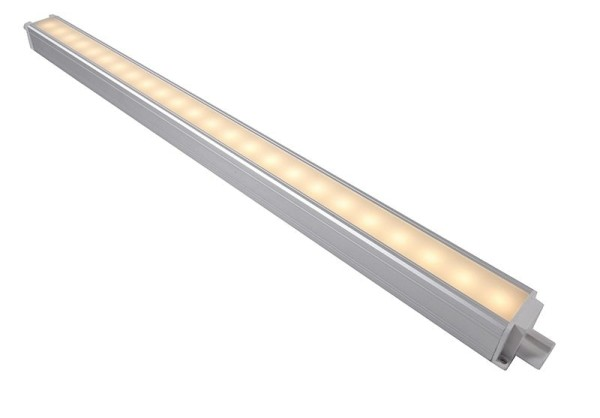 Deko-Light Möbelaufbauleuchte, Unterbauleuchte Viereck Form, Aluminium, silberfarben eloxiert, 135°