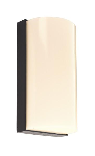 Deko-Light Wandaufbauleuchte, Grumium rund, Aluminium Druckguss, dunkelgrau, Warmweiß, 138°, 10W