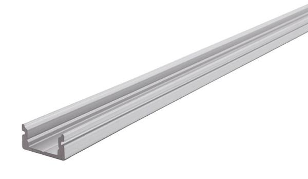 Reprofil Profil, U-Profil flach AU-01-08, Aluminium, Silber-matt eloxiert, 2000mm