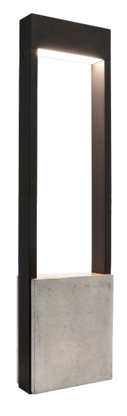 Deko-Light Stehleuchte, Chertan 600, Aluminium Druckguss, dunkelgrau, Warmweiß, 120°, 12W, 230V