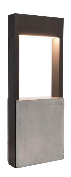 Deko-Light Stehleuchte, Chertan 450, Aluminium Druckguss, dunkelgrau, Warmweiß, 120°, 12W, 230V