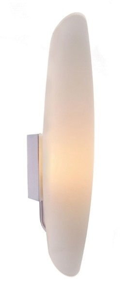 Deko-Light Wandaufbauleuchte, Tube, Glas, Weiß, 40W, 230V, 350x70mm