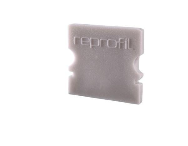 Reprofil Profil Zubehör, Endkappe P-AU-02-10 Set 2 Stk, Kunststoff, Grau, 16x6mm