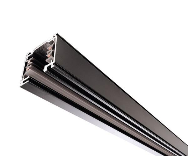 Ivela Schienensystem 3-Phasen 230V, Stromschiene quadratisch, Aluminium, schwarz, 230V, 2000mm
