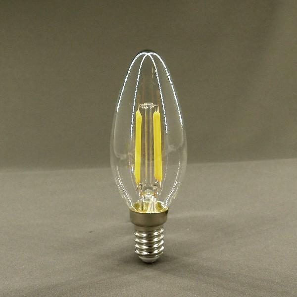 E14 Filament LED Leuchtmittel, 2700K, 4W, 400lm, SMD, kerzenförmig