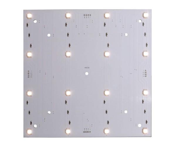Deko-Light Modular System, Modular Panel II 4x4, Aluminium, Weiß, Warmweiß, 120°, 5W, 24V, 166x166mm