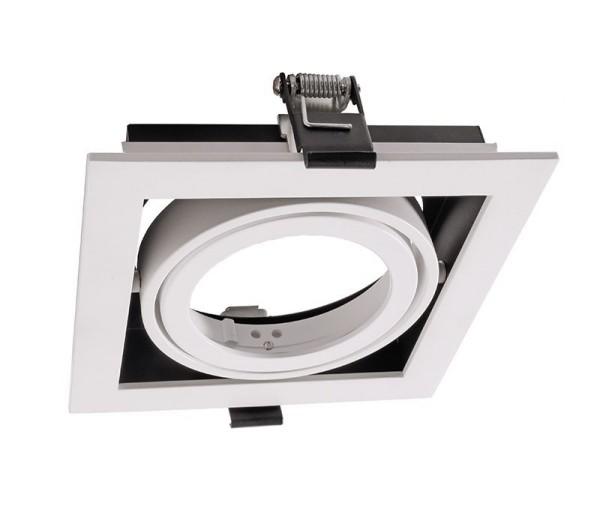 Deko-Light Zubehör, Kardanrahmen für Modular Sytem COB, Aluminium, Weiß mattiert, 140x140mm