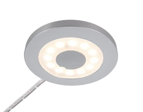 Deko-Light Möbelaufbauleuchte, Paty Rund, Aluminium, silberfarben, Warmweiß, 120°, 2W, 12V