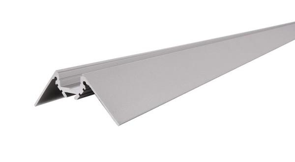 Reprofil Profil, Trockenbau Eck-Profil Ecke außen AV-02-10, Aluminium, Silber-matt eloxiert, 2500mm