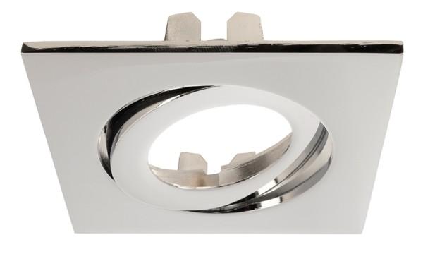 Deko-Light Zubehör, Rahmen für Lesath eckig, chrom, Aluminium Druckguss, Silber Chrom, 90x90mm