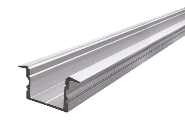Reprofil Profil, T-Profil hoch ET-02-15, Aluminium, Silber gebürstet, 2000mm