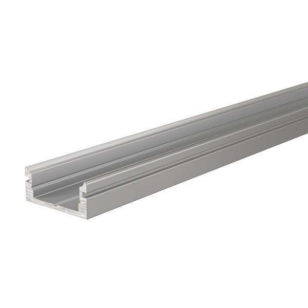 Reprofil, U-Profil flach AU-01-10 für LED Stripes bis 11,3 mm, Silber-matt, eloxiert, 3000 mm