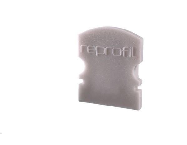 Reprofil Profil Zubehör, Endkappe F-AU-02-08 Set 2 Stk, Kunststoff, Grau, 14x6mm