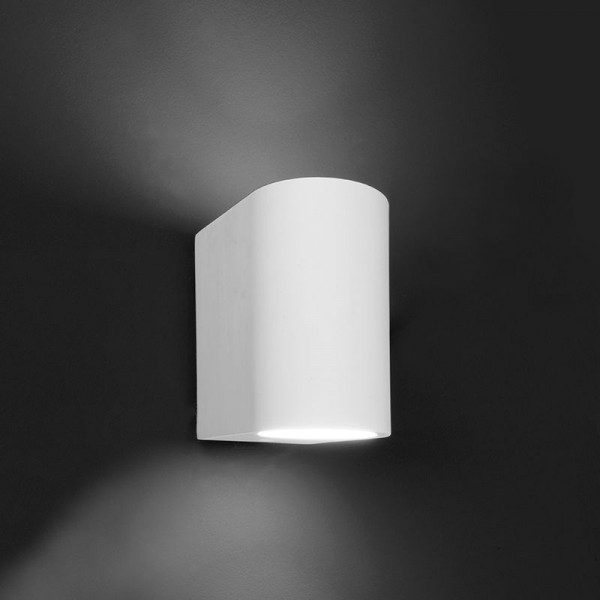 Deko-Light Wandaufbauleuchte, Giulia, Gips, weiß überstreichbar, 25W, 230V, 70x100mm