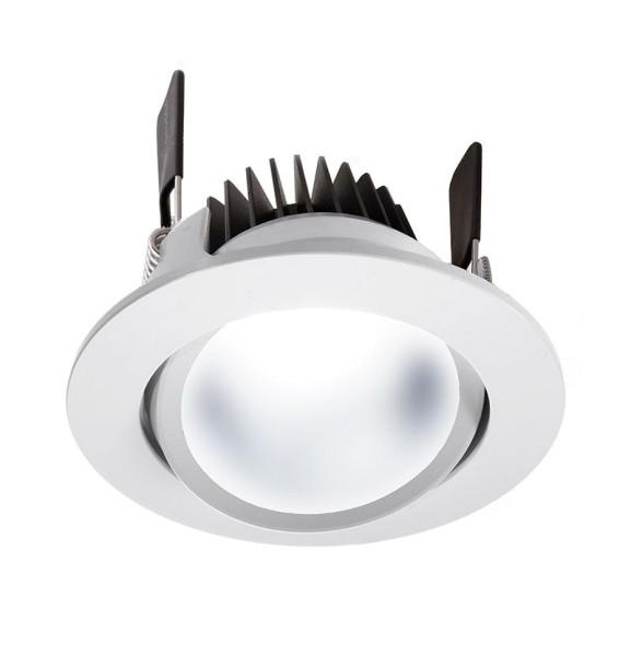 Deko-Light Deckeneinbauleuchte, COB 95 CCT, Aluminium, weiß, Warmweiß + Kaltweiß, 65°, 16W, 24V