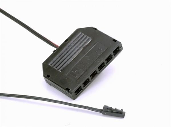 Zubehör / Ersatzteil, Verteiler 6-fach mit 2 mit Anschlusskabel, Länge: 55 mm, Breite: 38 mm, Höhe: