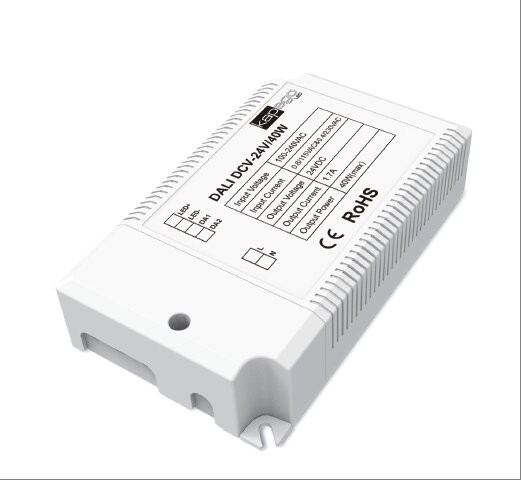 Deko-Light Netzgerät, DCV-24V/40W Integration in DALI-Netzwerke, Kunststoff, Weiß, 40W, 24V, 1700mA
