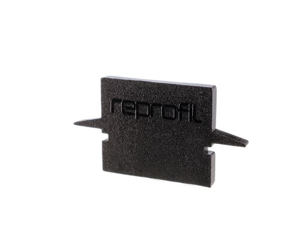 Reprofil Profil Zubehör, Endkappe H-ET-01-08 Set 2 Stk, Kunststoff, Schwarz, 23x6mm