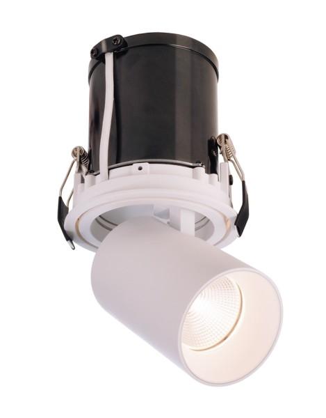 Deko-Light Deckeneinbauleuchte, Rigel Mini Round Single, Aluminium Druckguss, weiß matt, Warmweiß