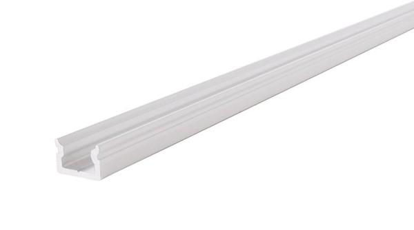 Reprofil Profil, U-Profil flach AU-01-05, Aluminium, Weiß-matt, 2000mm