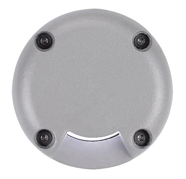LED PLOT, Abdeckung, rund, 1 Slot, silbergrau