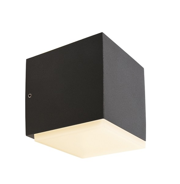 Deko-Light Wandaufbauleuchte, Ancha I, Aluminium Druckguss, dunkelgrau, Warmweiß, 113°, 5W, 230V