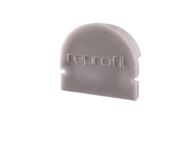 Reprofil Profil Zubehör, Endkappe R-AU-01-12 Set 2 Stk, Kunststoff, Grau, 18x6mm