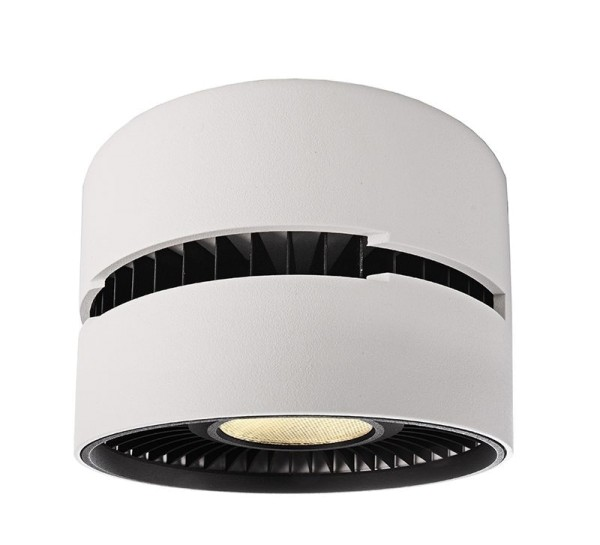 Deko-Light Deckenaufbauleuchte, Black & White III, Aluminium Druckguss, weiß, Warmweiß, 40°, 26W