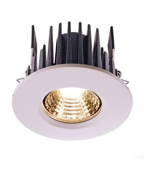 Deko-Light Deckeneinbauleuchte, COB 68 IP65, Aluminium Druckguss, weiß, Warmweiß, 45°, 6W, 17-18V