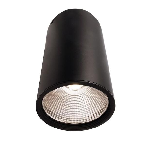 Deko-Light Deckenaufbauleuchte, Luna 40, Aluminium Druckguss, schwarz mattiert, Neutralweiß, 40°