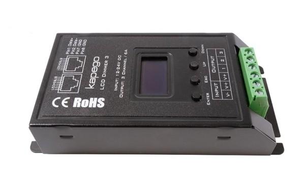 Deko-Light Controller, OLED Dimmer 3, Metall, Schwarz, 432W, 12-24V, 116x57mm