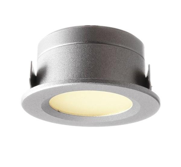 Deko-Light Deckeneinbauleuchte, Aluminium Druckguss, silberfarben, Warmweiß, 135°, 1W, 12V