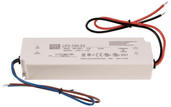 Meanwell Netzgerät, LPV-35-24, Kunststoff, Weiß, 35W, 24V, 148x40mm