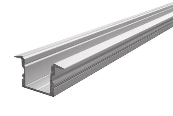 Reprofil, T-Profil hoch ET-02-12 für 12 - 13,3 mm LED Stripes, Aluminium, Silber-matt, naturbelassen
