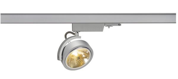 KALU TRACK, Spot für Hochvolt-Stromschiene 3Phasen, QR111, silbergrau, max. 50W