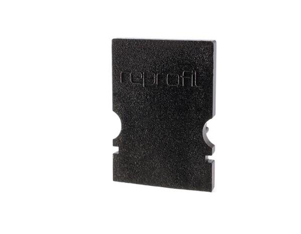 Reprofil Profil Zubehör, Endkappe H-AU-02-08 Set 2 Stk, Kunststoff, Schwarz, 14x6mm