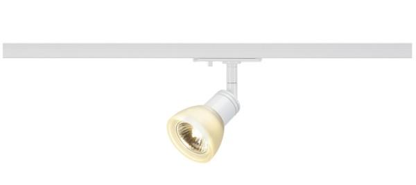 PURIA, Spot für Hochvolt-Stromschiene 1Phasen, QPAR51, weiß, Glas satiniert, max. 50W