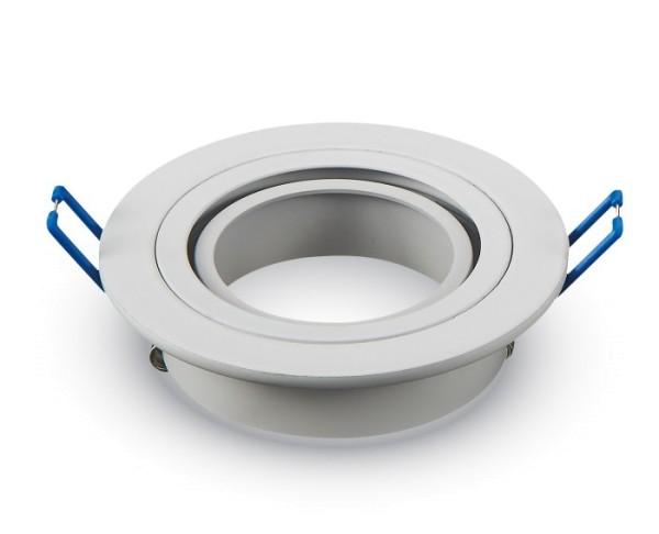 Einbauleuchte JUST RIM R1 für GU10 Sockel, rund, weiß, max. 35W, inkl. Clipfedern