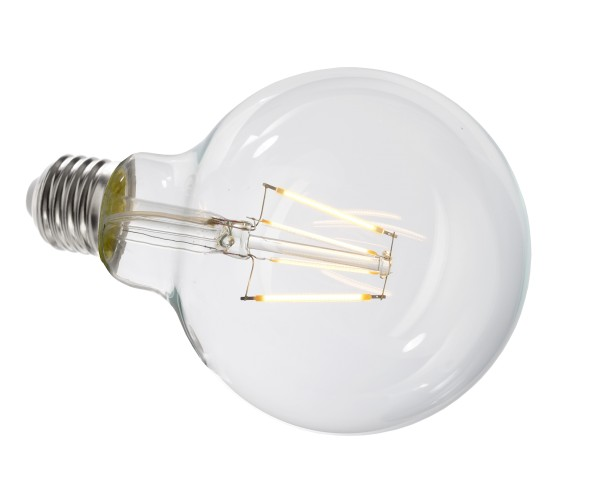 Deko-Light Leuchtmittel, Filament E27 G95 2700K, Glas, Warmweiß, 300°, 4W, 230V, 11mA, 140mm
