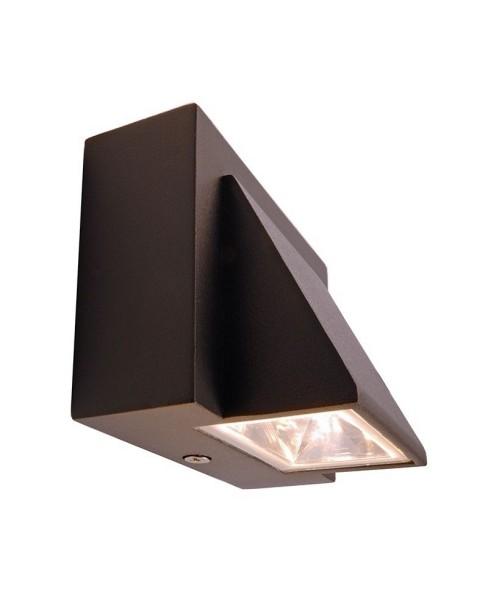 Deko-Light Wandaufbauleuchte, Agudo II Single, Aluminium Druckguss, anthrazit, Warmweiß, 90°, 2W