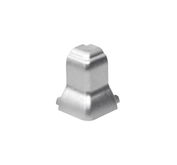 ECKVERBINDER, für GLENOS Fußleisten-Profil, silbergrau, 90°, außen