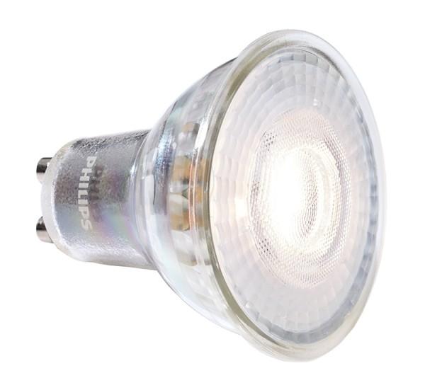 Phillips Leuchtmittel, MASTER VALUE LEDspot MV GU10 940, Glas, Silber, Neutralweiß, 60°, 4W, 230V